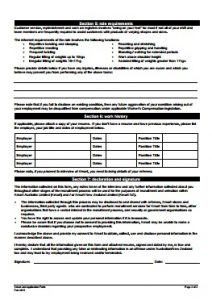 Kmart Job Application PDF - Back