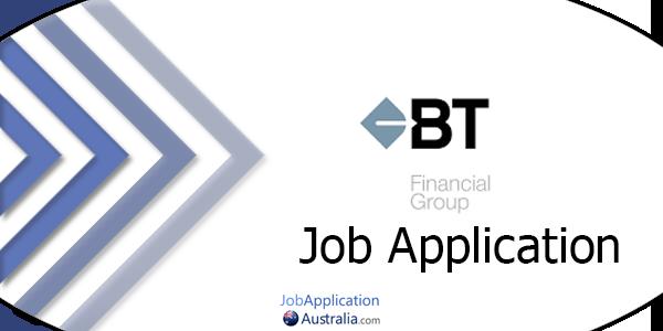 BT Financial Group Job Application