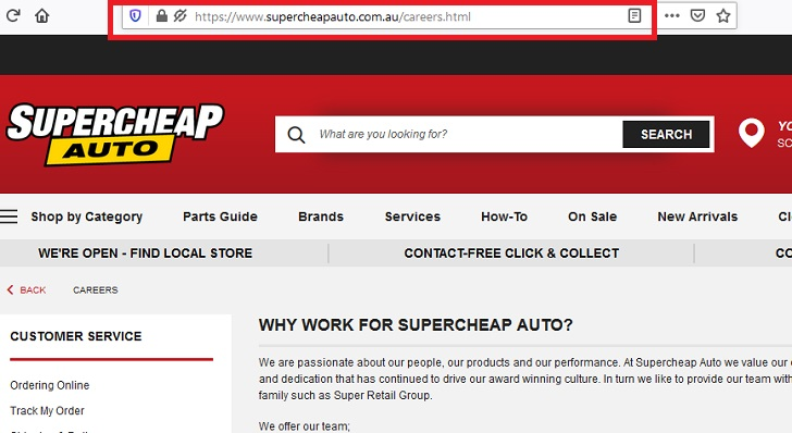 Supercheap Auto Job Application, Career (How to Apply Step 1)