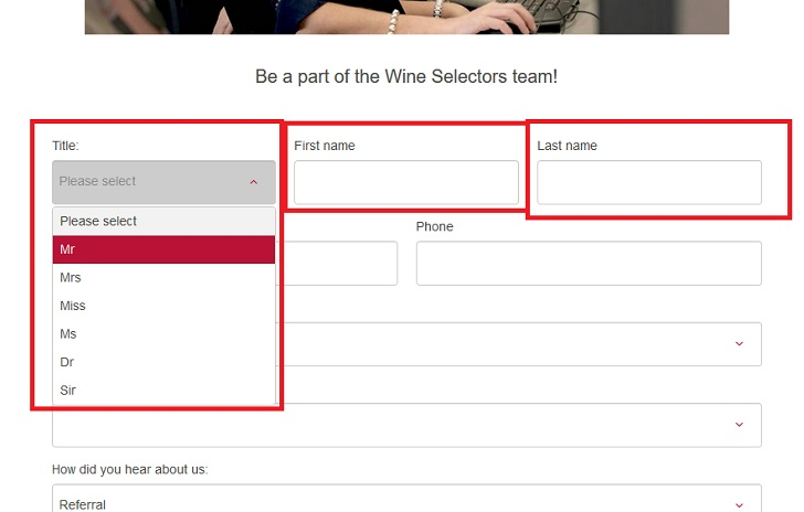 Wine Selectors Job Application (How to Apply Step 2)