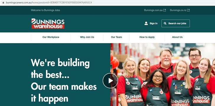 Bunnings Warehouse Job Application (How to Apply Step 1)