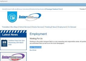 Interline Bus Services Job Application (How to Apply Step 1)