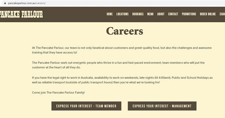 Pancake Parlour Job Application (How to Apply Step 1)