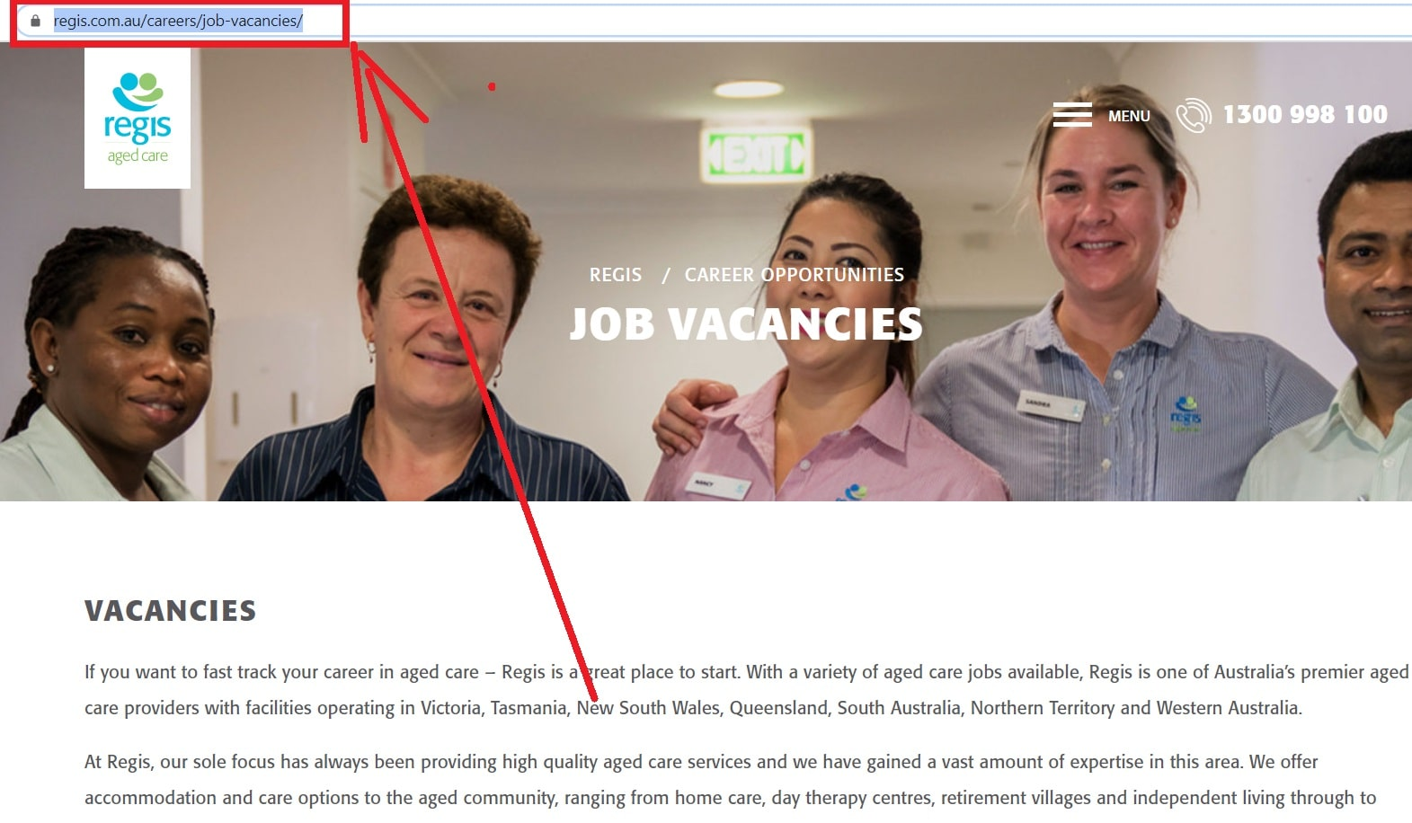 Regis Aged Care Job Application (How to Apply Step1)