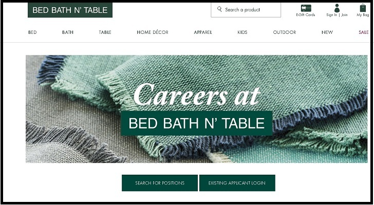 Bed Bath N' Table Jobs: Application Form Online & Careers