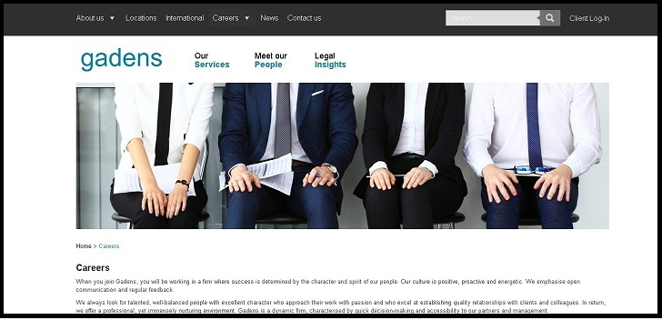 Gadens Lawyers Jobs: Application Form Online & Careers