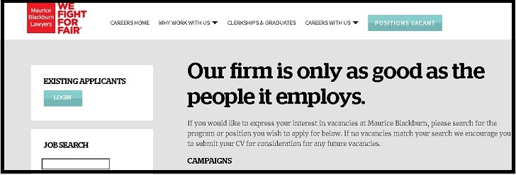 Maurice Blackburn Jobs: Application Form Online & Careers