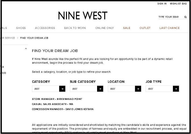 Nine West Jobs: Application Form Online & Careers 2021