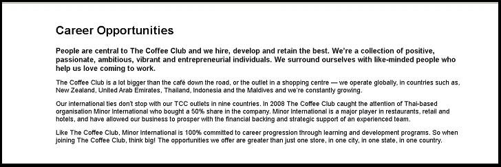 The Coffee Club Application