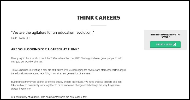 Think Education Group Jobs: Application Form Online & Careers