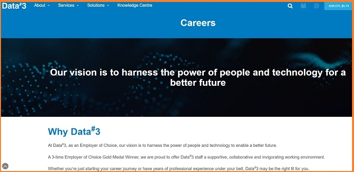 Data#3 Jobs: Application Form Online & Careers
