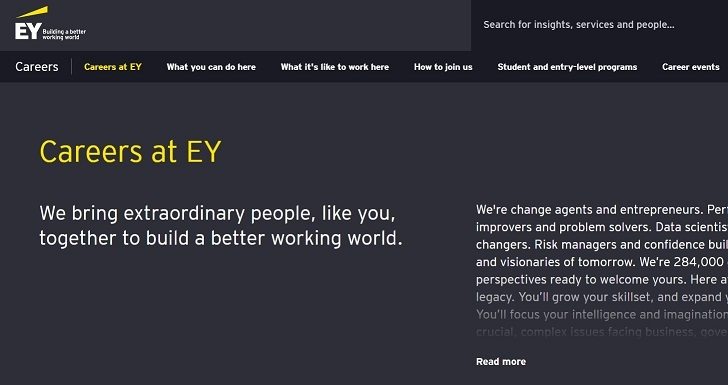 EY Job Application Form Online, Careers