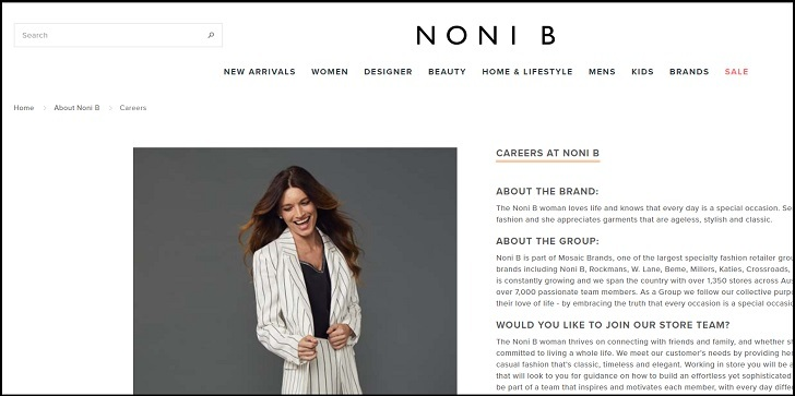 Noni B Jobs: Application Form Online & Careers