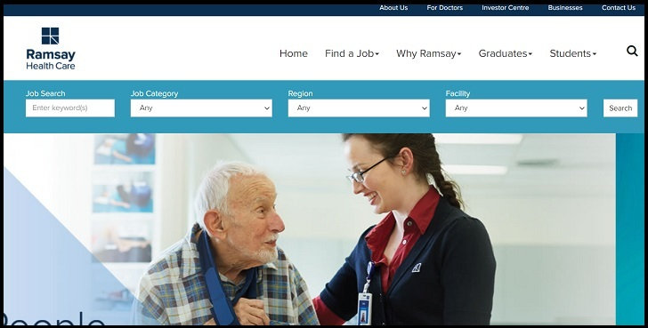 Ramsay Health Care Job Application Form Online, Careers
