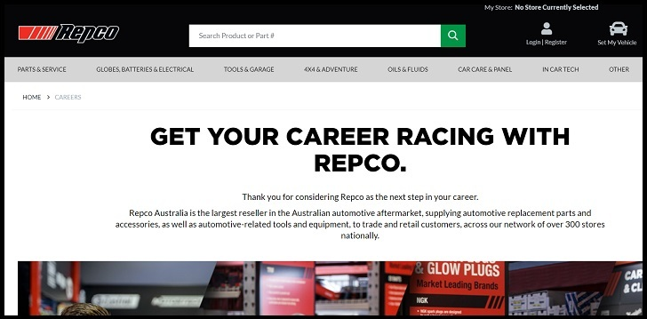 Repco Job Application Form Online, Careers
