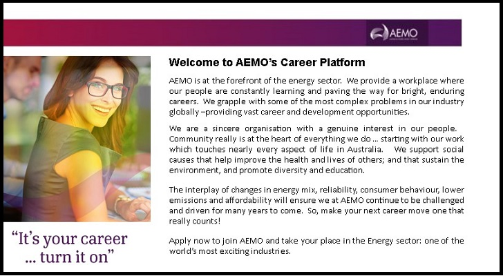 Australian Energy Market Operator Jobs: Application Form Online & Careers