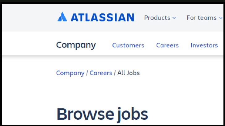 Atlassian Job Application