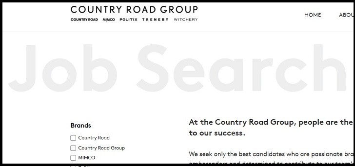 Country Road Jobs: Application Form Online & Careers