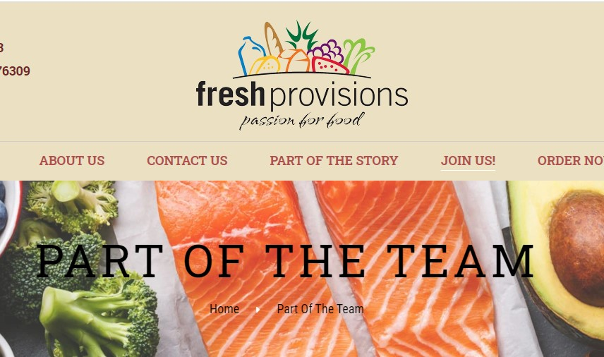Fresh Provisions Job Application