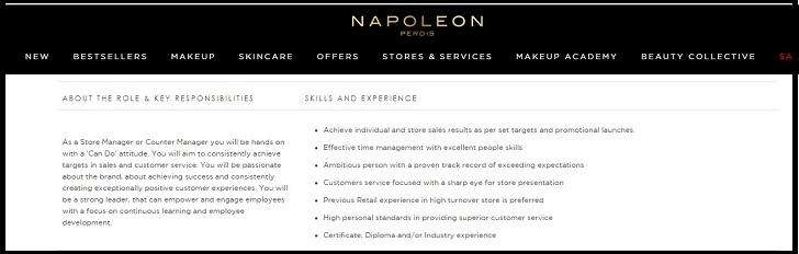 Napoleon Perdis Job Application Form Online & Careers
