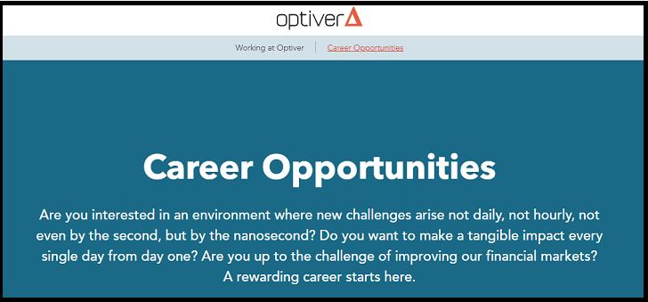 Optiver Job Application