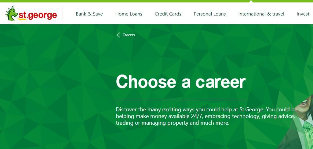 St.George Bank Job Application Form Online & Careers