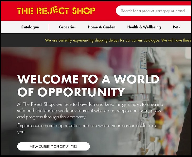 The Reject Shop Jobs: Application Form Online & Careers