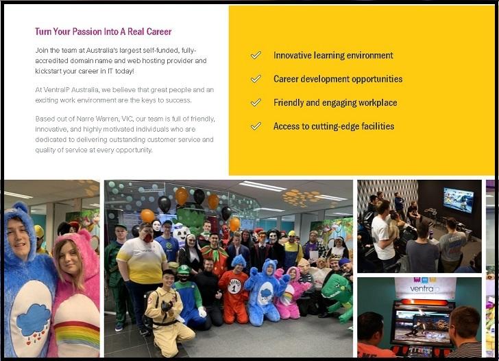 VentraIP Australia Jobs: Application Form Online & Careers
