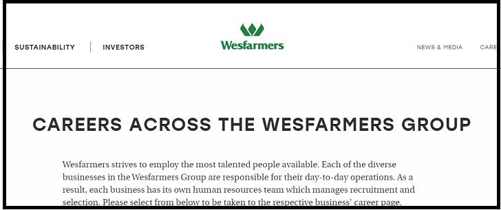 Wesfarmers Job Application Form Online & Careers