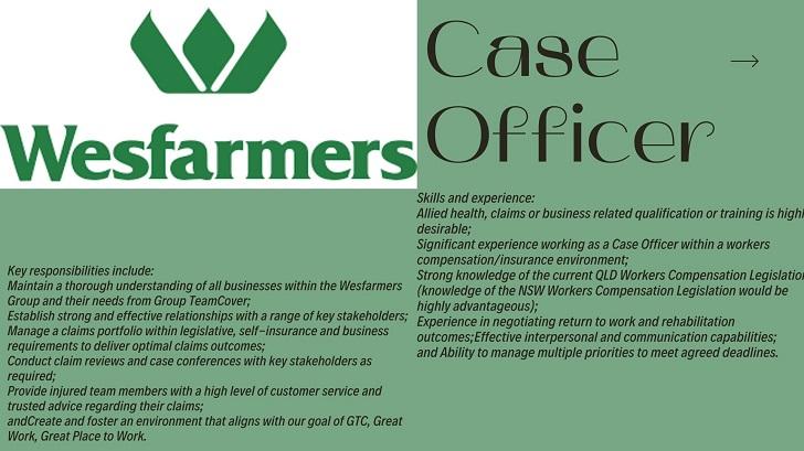 Westfarmers Case Officer