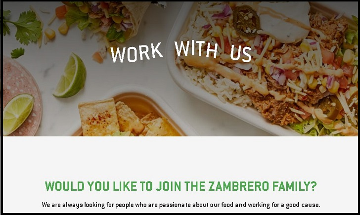 Zambrero Jobs: Application Form Online & Careers
