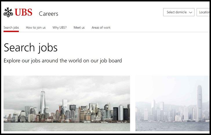 UBS Job Application Form Online (Careers & Jobs)