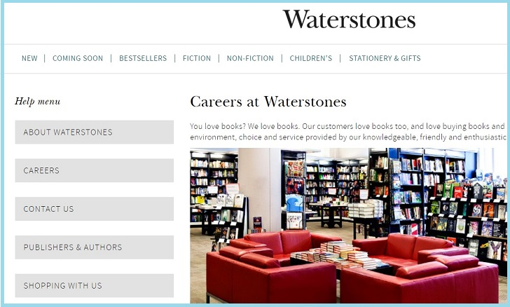 Waterstones Job Application Form Online & Careers