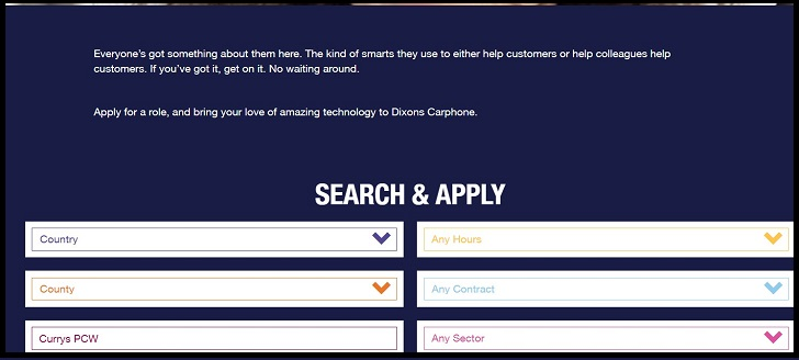 Currys PC World Jobs: Application Form Online & Careers
