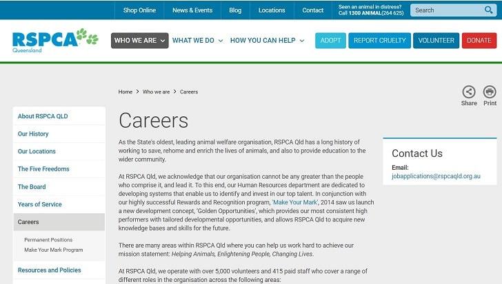 RSPCA Queensland Jobs: Application Form Online & Careers