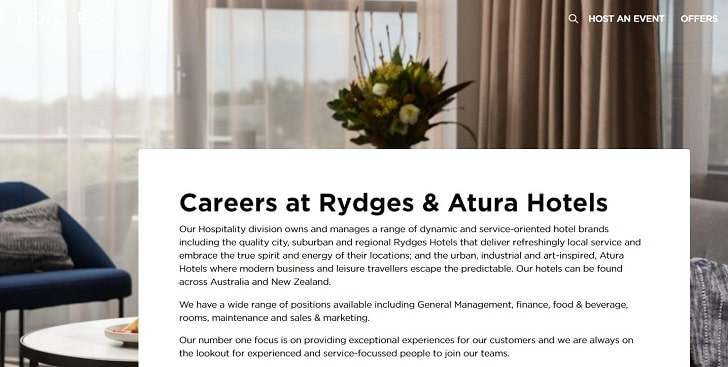 Rydges Hotels & Resorts Jobs: Application Form Online & Careers