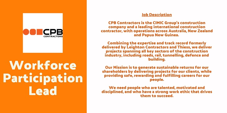Leighton Contractors Workforce Participation Lead