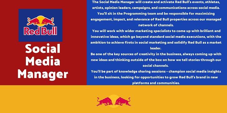 Red Bull Social Media Manager