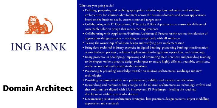 ING Bank Domain Architect