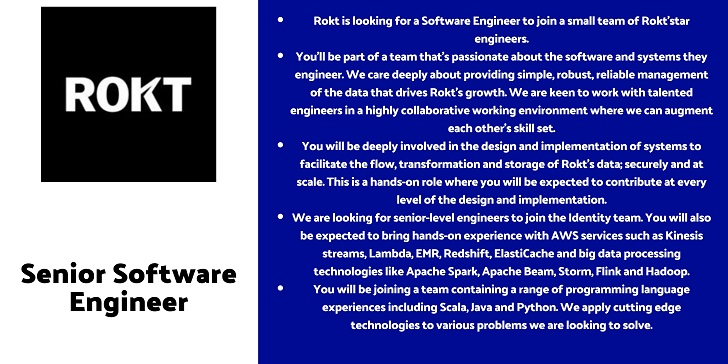 Rokt Senior Software Engineer