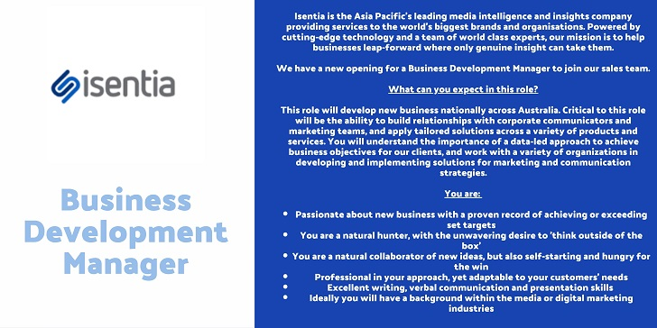 isentia Business Development Manager