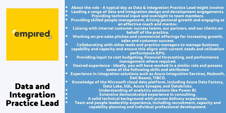 Empired Data and Integration Practice Lead