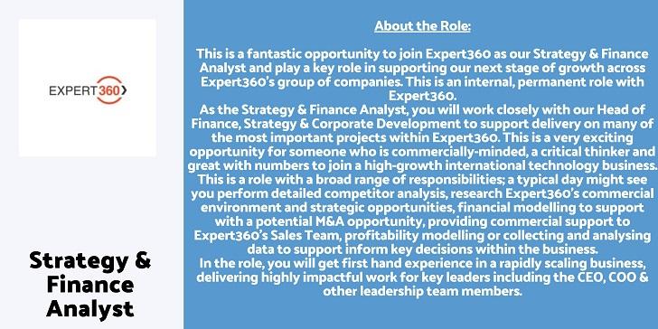 Expert360 Strategy & Finance Analyst