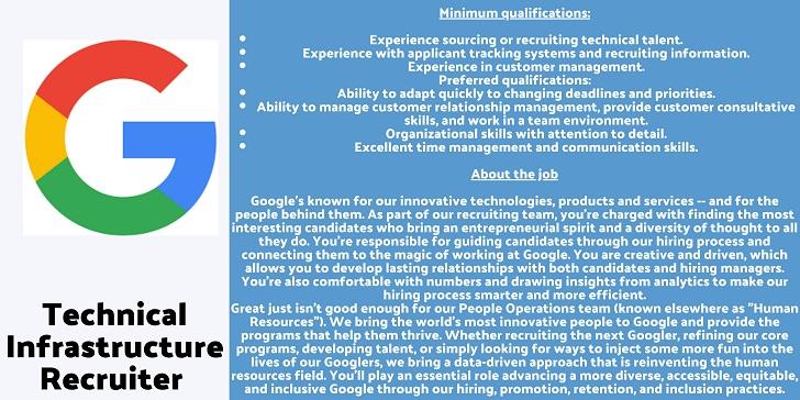 Google Technical Infrastructure Recruiter