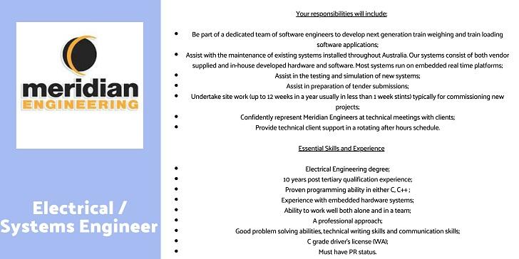 Meridian Engineering Electrical / Systems Engineer