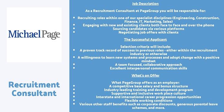 Michael Page Recruitment Consultant