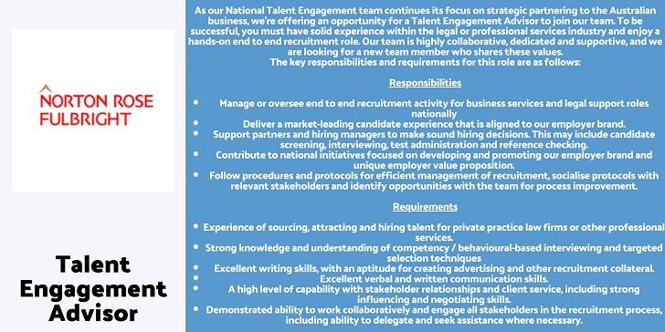 Norton Rose Fulbright Talent Engagement Advisor