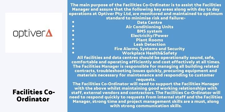 Optiver Facilities Co-Ordinator