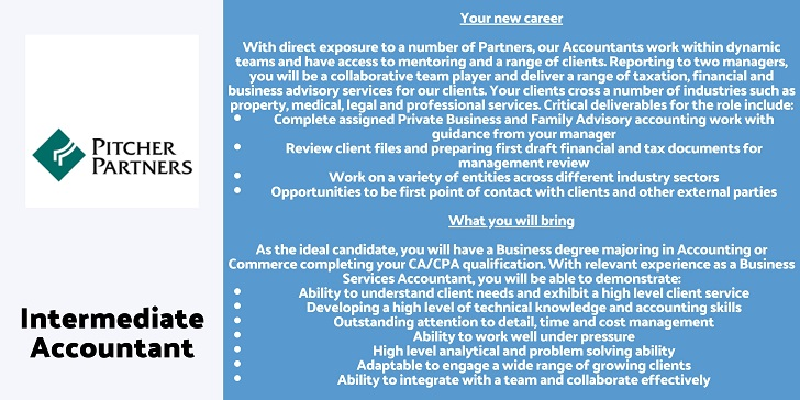 Pitcher Partners Intermediate Accountant