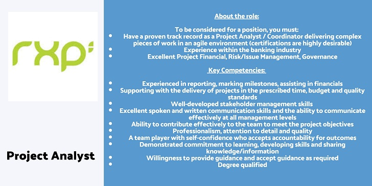 Rxp Services Project Analyst